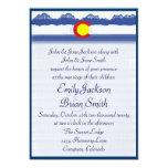 Invitaciones de encargo del boda de la bandera de invitacion personalizada