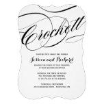 Invitaciones de encargo del boda de la escritura anuncios personalizados
