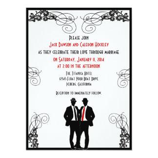 """Invitaciones de encargo del boda de los novios invitación 6.5"""" x 8.75"""""""