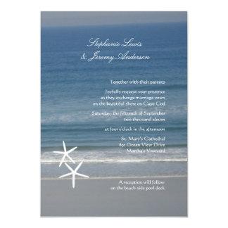 """Invitaciones de encargo del boda del océano de las invitación 5"""" x 7"""""""
