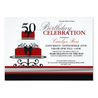 """Invitaciones de encargo del cumpleaños de la torta invitación 5"""" x 7"""""""