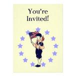 Invitaciones de encargo del fiesta de la bandera a