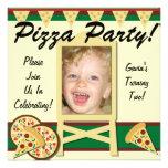 Invitaciones de encargo del fiesta de la pizza de  comunicados