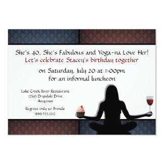 """Invitaciones de encargo del fiesta de la yoga invitación 5"""" x 7"""""""