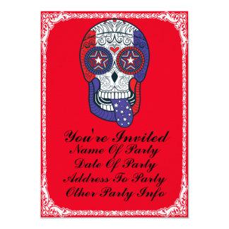 """Invitaciones de encargo del fiesta del cráneo del invitación 5"""" x 7"""""""