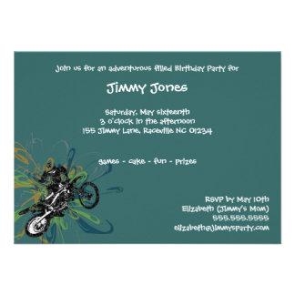 Invitaciones de encargo del fiesta del motorista a invitacion personal
