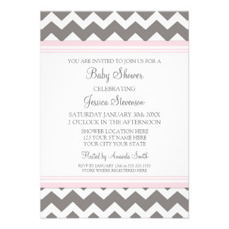 Invitaciones de encargo grises rosadas de la fiest comunicados personales