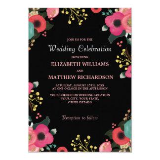 """Invitaciones de encargo modernas del boda del invitación 5"""" x 7"""""""