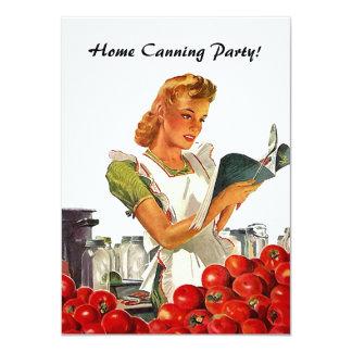 """Invitaciones de enlatado caseras de la cocina invitación 4.5"""" x 6.25"""""""