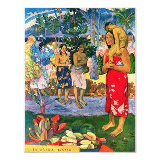 """Invitaciones de Gauguin Ia Orana Maria Invitación 4.25"""" X 5.5"""""""