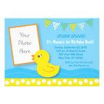 Invitaciones de goma del cumpleaños del pato anuncios