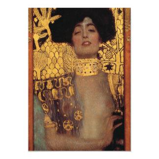 Invitaciones de Gustavo Klimt Judith Invitación 12,7 X 17,8 Cm