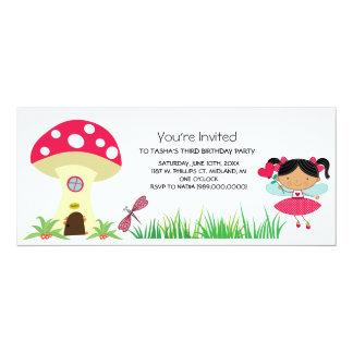 Invitaciones de hadas de la fiesta de cumpleaños invitacion personalizada