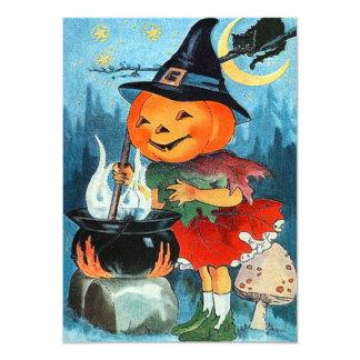 Invitaciones de Halloween de la calabaza del Invitación 11,4 X 15,8 Cm