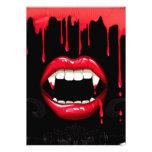 Invitaciones de Halloween del vampiro