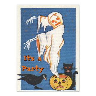 Invitaciones de Halloween del vintage Invitación 11,4 X 15,8 Cm
