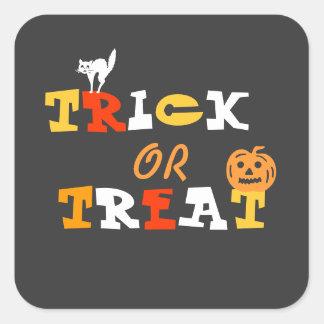 Invitaciones de Halloween Calcomanía Cuadradas Personalizadas
