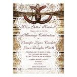 Invitaciones de herradura de madera del boda del p invitación