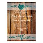 Invitaciones de herradura del boda del alambre de