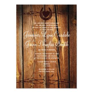 """Invitaciones de herradura del boda del alambre de invitación 4.5"""" x 6.25"""""""