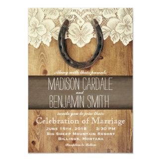 """Invitaciones de herradura occidentales del boda invitación 4.5"""" x 6.25"""""""