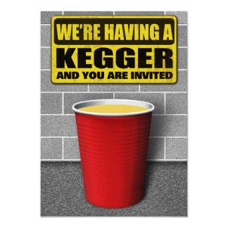 """Invitaciones de Kegger Invitación 5"""" X 7"""""""