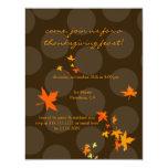 Invitaciones de la acción de gracias, hojas de anuncio