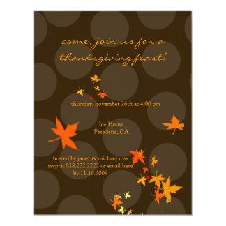 """Invitaciones de la acción de gracias, hojas de invitación 4.25"""" x 5.5"""""""
