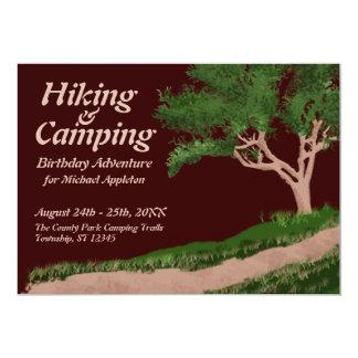 Invitaciones de la aventura del cumpleaños que invitación