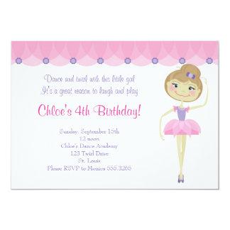 Invitaciones de la bailarina de Lil Invitación 12,7 X 17,8 Cm