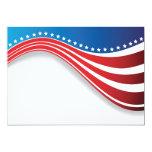 Invitaciones de la bandera americana invitación 12,7 x 17,8 cm