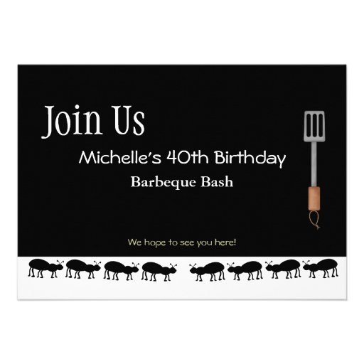 Invitaciones de la barbacoa para Michelle Invitaciones Personalizada