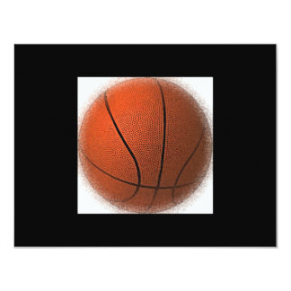 Invitaciones de la bola del baloncesto invitaciones personalizada