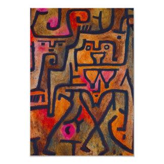 Invitaciones de la bruja del bosque de Paul Klee Invitación 8,9 X 12,7 Cm