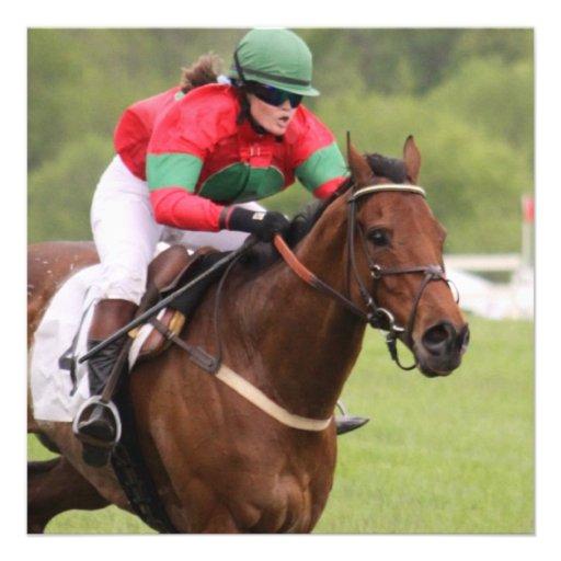 Invitaciones de la carrera de caballos comunicados personales