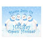Invitaciones de la casa abierta del día de fiesta  comunicados