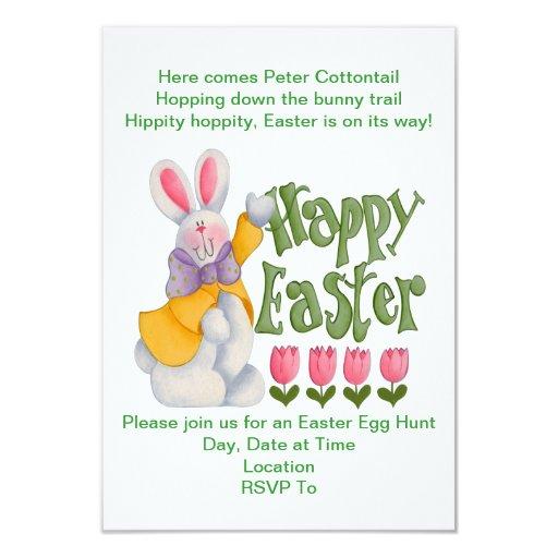 Invitaciones de la caza del huevo de Pascua de los Invitación 8,9 X 12,7 Cm