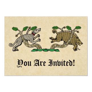 """Invitaciones de la caza del verraco invitación 5"""" x 7"""""""