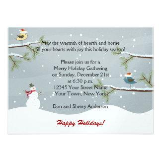 Invitaciones de la celebración de días festivos de anuncio