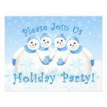Invitaciones de la celebración de días festivos de comunicados personalizados