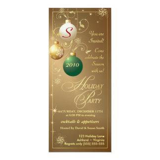 """Invitaciones de la celebración de días festivos - invitación 4"""" x 9.25"""""""
