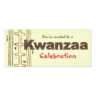 Invitaciones de la celebración de Kwanzaa Invitación 10,1 X 23,5 Cm