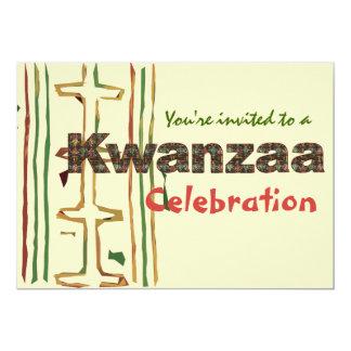 """Invitaciones de la celebración de Kwanzaa Invitación 5"""" X 7"""""""