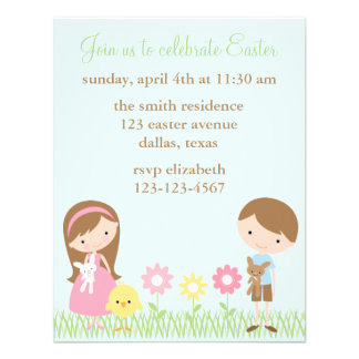 Invitaciones de la celebración de Pascua de los am Anuncios Personalizados