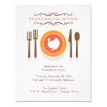 Invitaciones de la cena de la acción de gracias invitación 10,8 x 13,9 cm