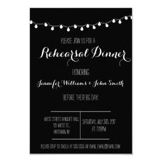 """Invitaciones de la cena del ensayo de B&W Invitación 3.5"""" X 5"""""""