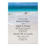 Invitaciones de la cena del ensayo de la arena de invitación 12,7 x 17,8 cm