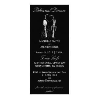 Invitaciones de la cena del ensayo de la cuchara y comunicado personal