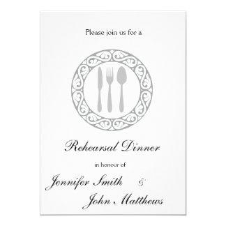 """Invitaciones de la cena del ensayo de la placa de invitación 5"""" x 7"""""""