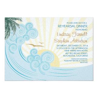 Invitaciones de la cena del ensayo de la playa de invitación